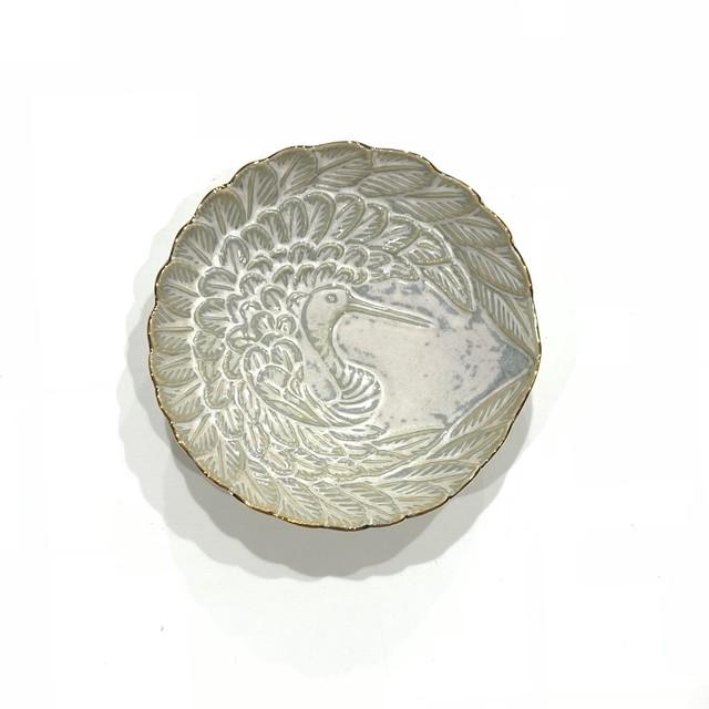 ハクア 鶴型小皿