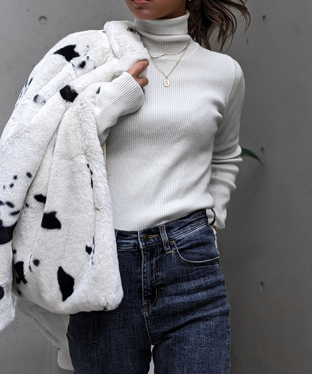 Long sleeve turtle knit