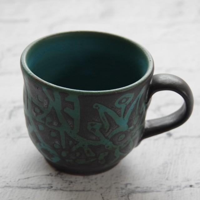 やちむん【南陶窯】ミニマグカップ