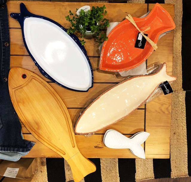 【お魚雑貨】ライフスタイルに釣りを感じれるアイテム!【スポット入荷となりますのでお早めに】 Fish Plateフィッシュプレート&お魚まな板 【Creative Co-Op Home】コンベックスアンドシンクス