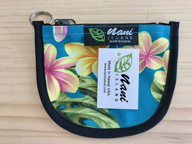 "NANI ISLAND ""MADE IN HAWAII"" POUCH (TURQUOISE/YELLOW)"