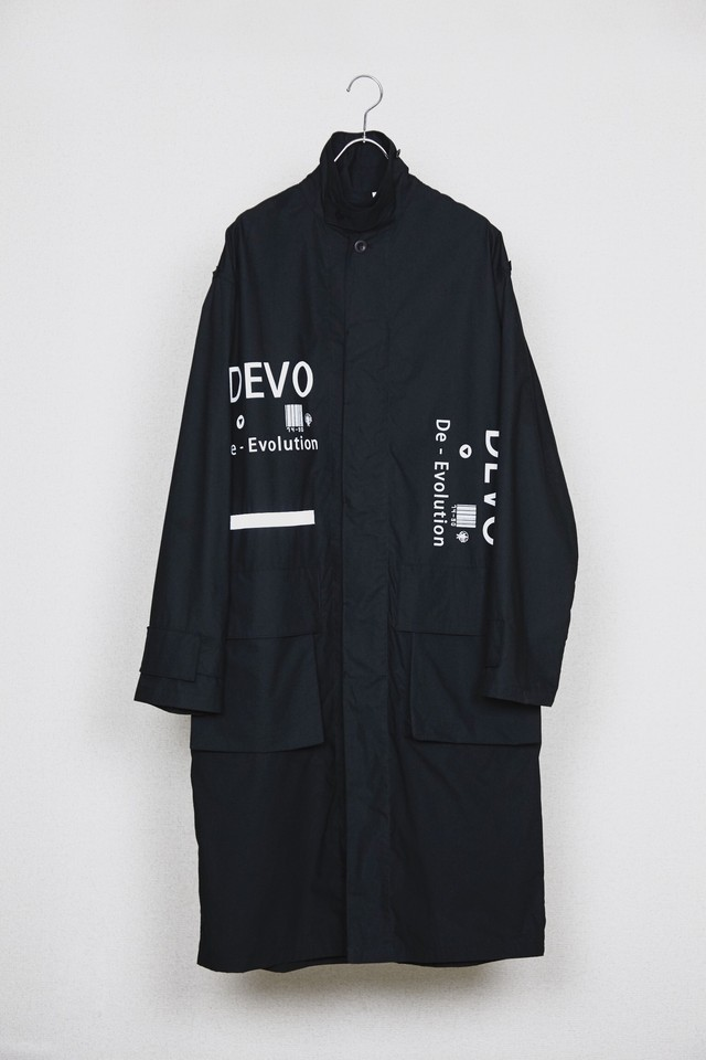 【HUMIS】CHEMICAL FLY-FRONT OVER COAT