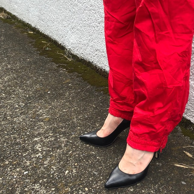 Easy big slit pants