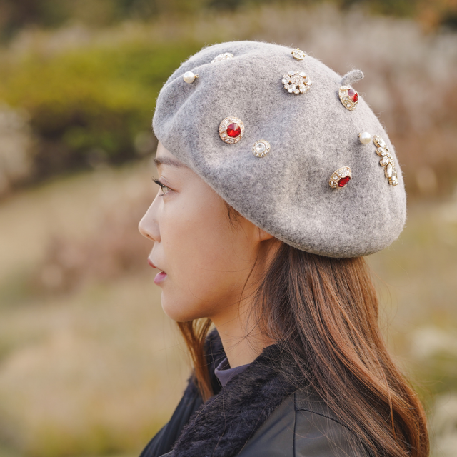 Custom-made Beret(Gray)