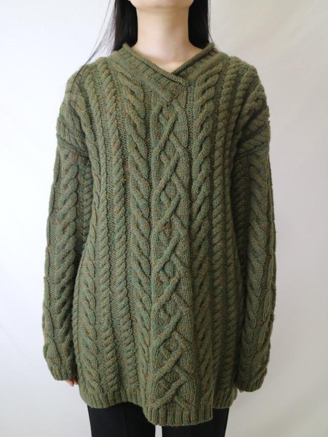mix color low gauge knit【0598】
