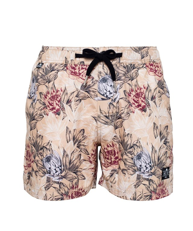 SUNS KING PROTEA PATTERN SWIM SHORTS[RSW030]