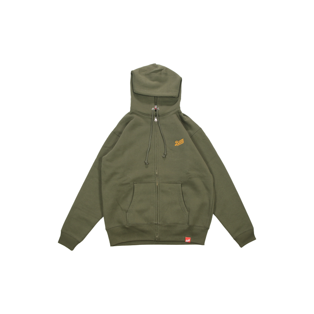LOGO ZIP UP HOODY 2020 [KHAKI]