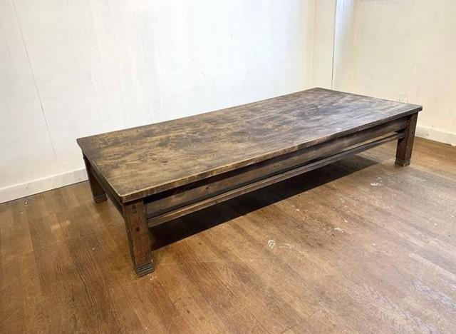 No.i05 一枚板の古いローテーブル / 古道具