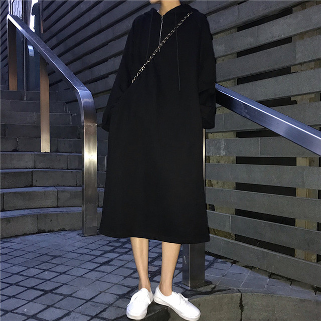 フード付き ワンピース トレーナー 長袖【0374】