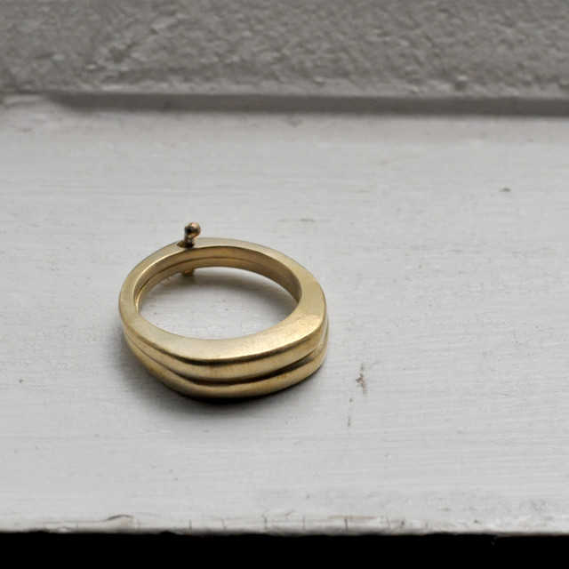 indigo-silver WORKS -  double ring brass -