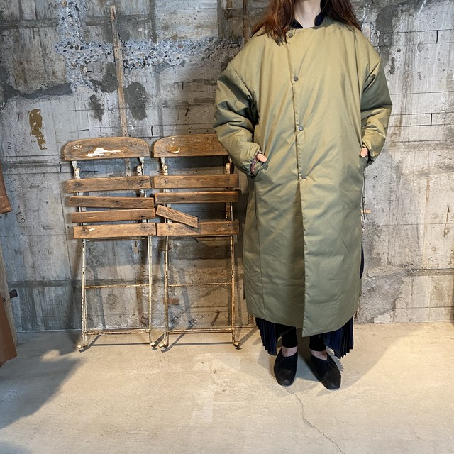 HYKE【ハイク】 N/C OXFORD COAT (17279/OLIVE DRAB).