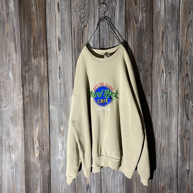 [Hard Rock Cafe]Mexico khaki sweat