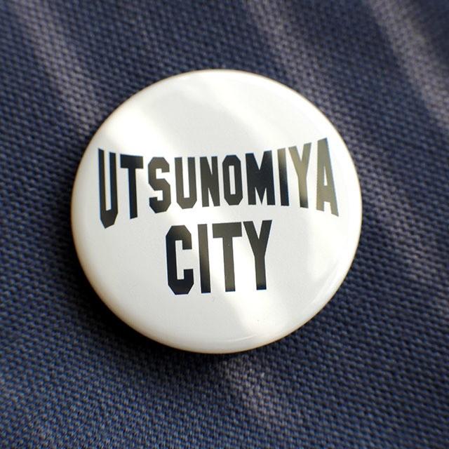 缶バッジ 38mm UTSUNOMIYA CITY ネイビー