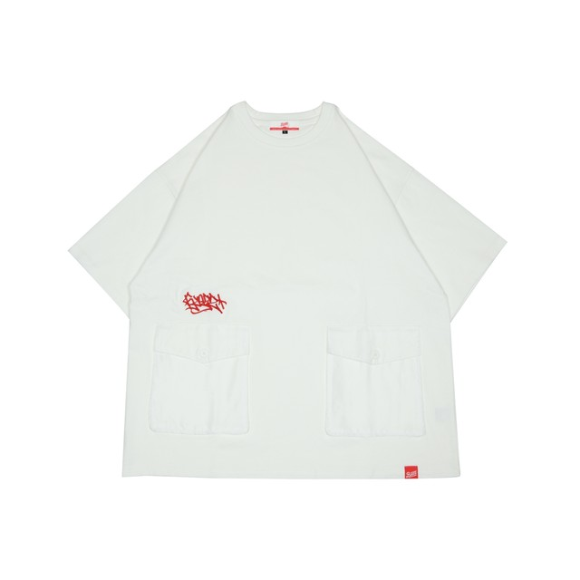 2POCKET OVERSIZE HEAVY TEE Kreso Tag Exclusive [WHITE]