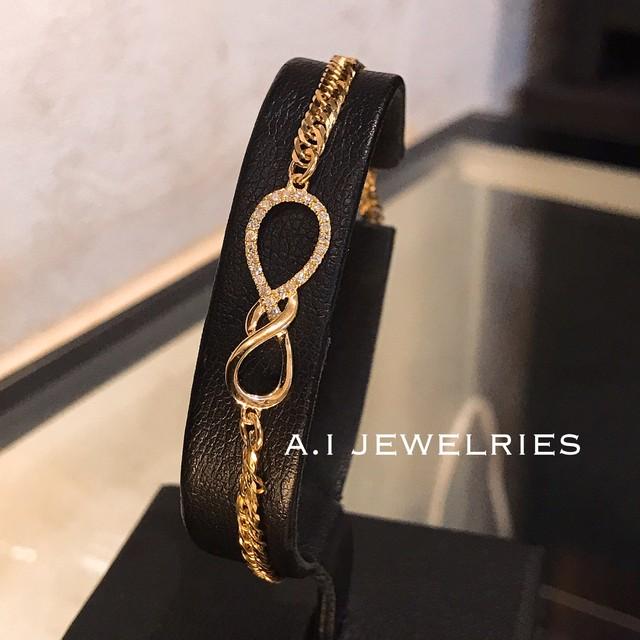 K18 ダイヤモンド インフィニティ ブレスレット 18金 infinity Diamond bracelet