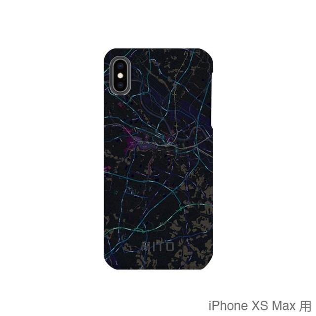 【水戸】地図柄iPhoneケース(バックカバータイプ・ブラック)