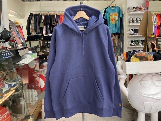 CARHARTT HOODED CHASE SWEAT XL COLD VIOLA/GOLD 50KB2766