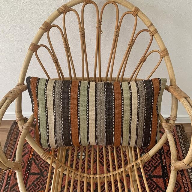 手織り キリム クッション 長方形 C092