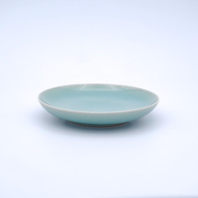 天青リム皿(中)