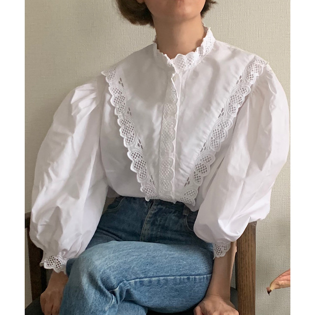 Vintage Traditional Frilly Blouse