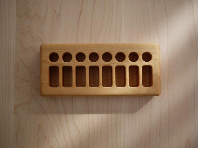 FromJennifer 木製クレヨンホルダー【サイズ: 8 Blocks/8 Sticks】