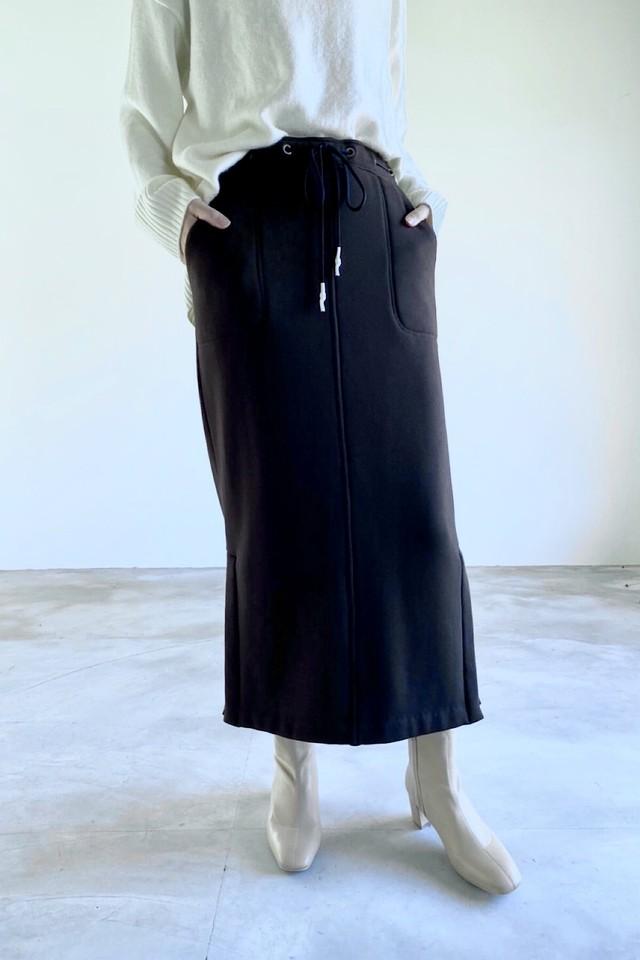 マシュマロタッチジャージースカート <チャコール>