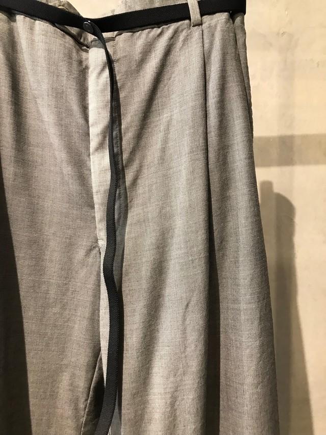 pre-fix oversized slacks with elastic belt - light gray