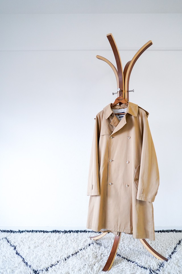 """【1990-2000s】""""Polo by Ralph Lauren"""" One-Panel Sleeve, 100% Cotton Trench Coat / v482"""