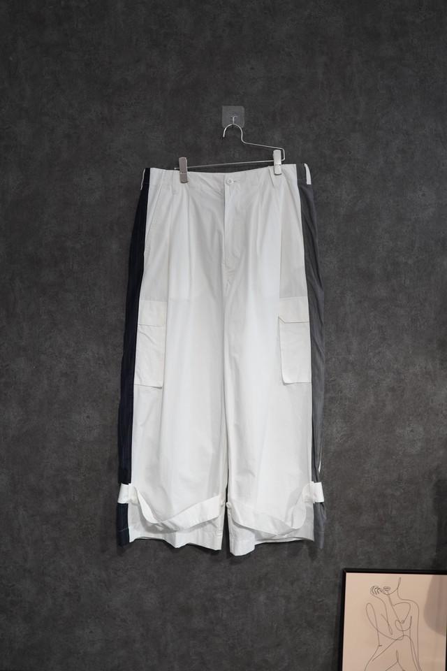 【2021 緊急SALE】my beautiful landlet ripstop wide cargo pants White
