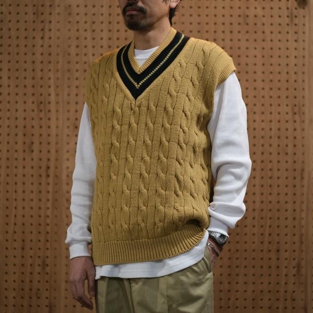 unfil(アンフィル)french merino cricket vest -50 wheat- #ONFL-UM235