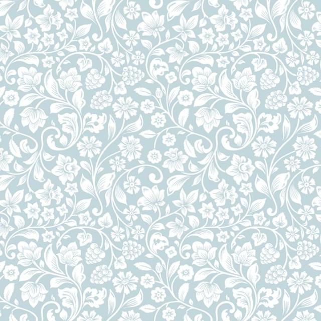 【Maki】バラ売り2枚 ランチサイズ ペーパーナプキン ROMANTIC MEADOW パウダーブルー×パール