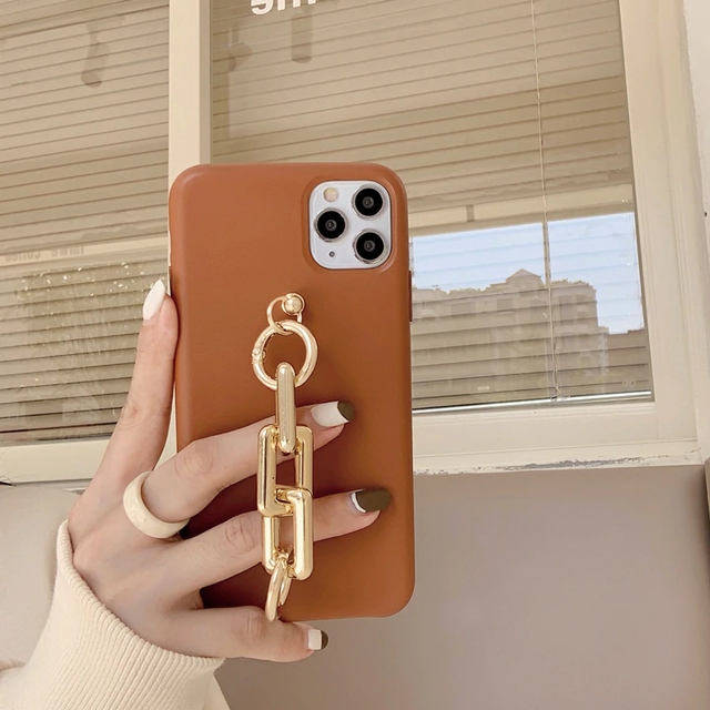 Shiny goldchain iphone case