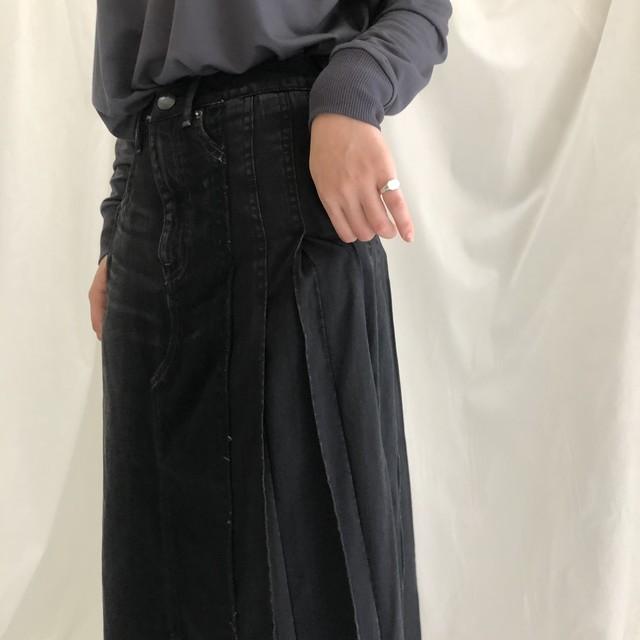 【 ANTGAUGE 】- GE377 - サイドプリーツ切替えデニムスカート
