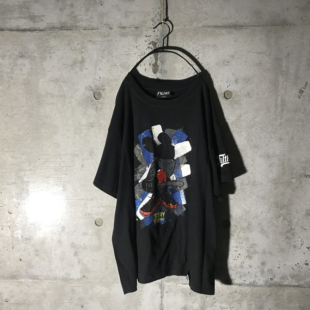 [used] filthy written half T-shirt