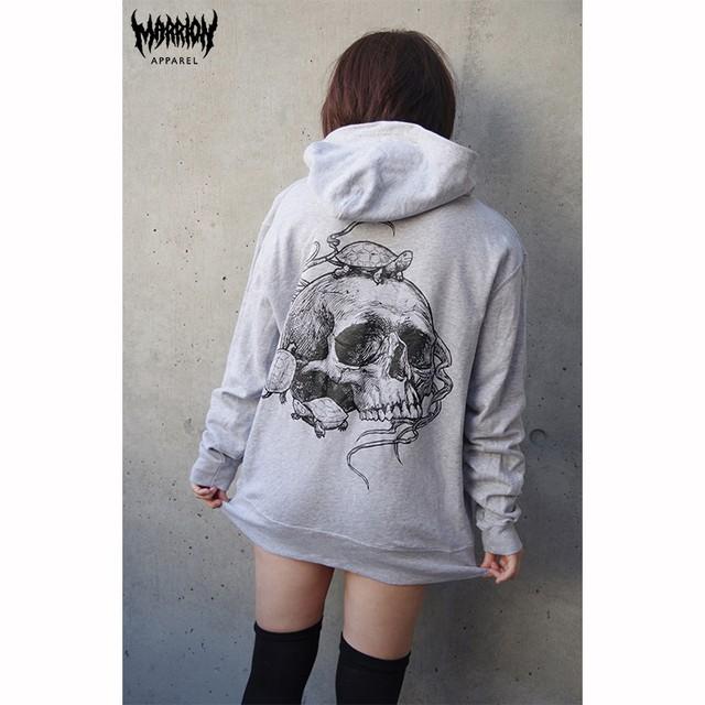 Turtle&Skull Hoodie (Gray)