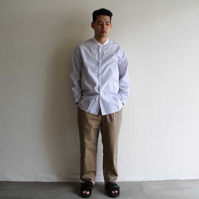 STILL BY HAND  【 mens 】 linen shirts