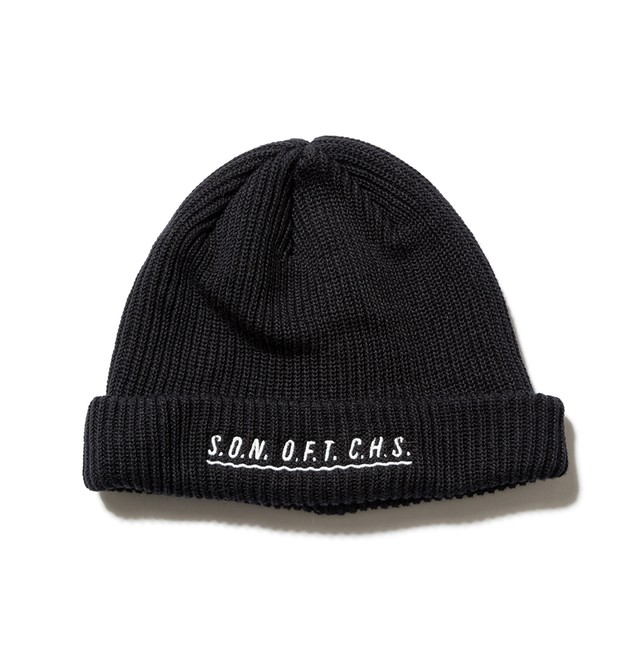 【SON OF THE CHEESE】SOTC wave knit CAP(BLACK)
