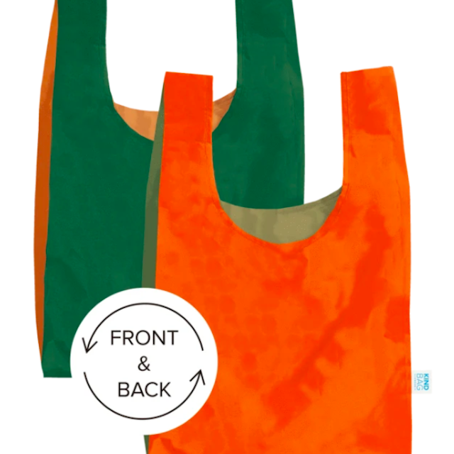 KIND BAG -LONDON- Eco bag Bicolour Orange&Green エコバッグ M