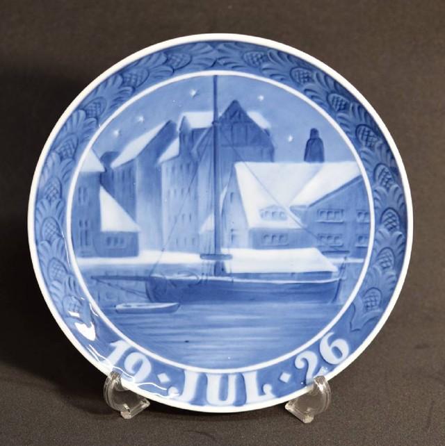 ロイヤルコペンハーゲン 1926年(昭和元年) イヤープレート クリスチャンハブス運河  USED品