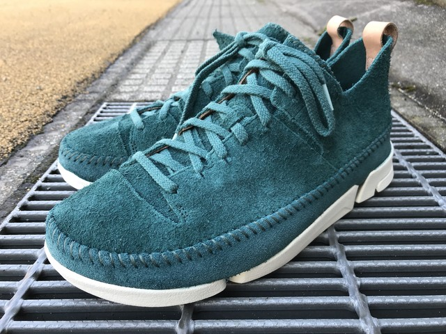 CLARKS ORIGINALS TRIGENIC FLEX (TEAL SUEDE)