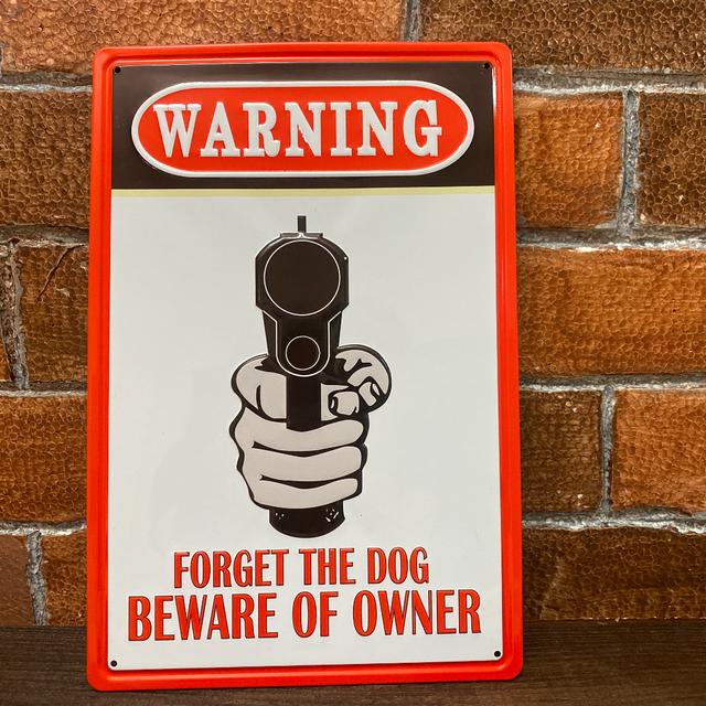 WARNING 看板 レトロな一品 アメリカン雑貨
