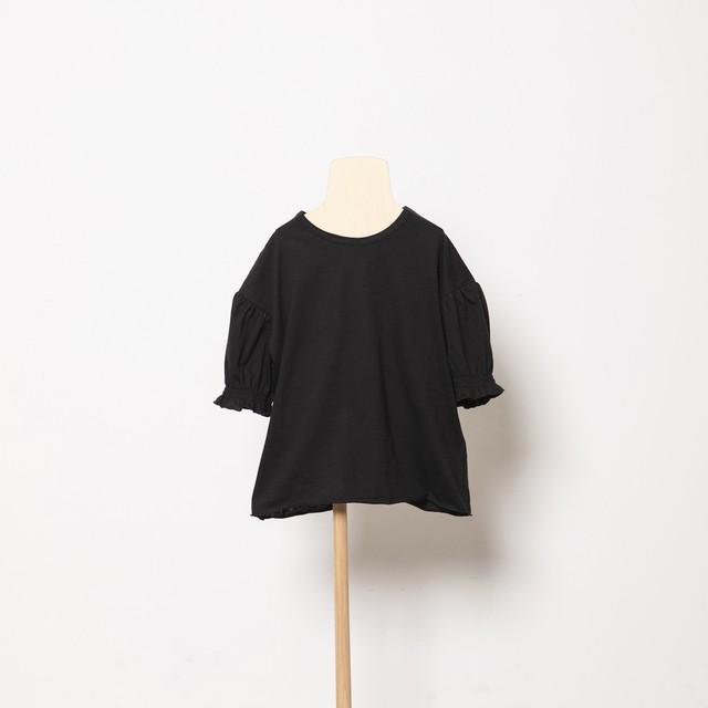 folk made   puff T-shirts (black) M・Lサイズ F21SS-020 ※メール便1点までOK