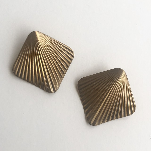 Raw Brass wing earrings No.401