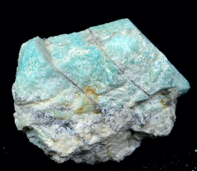 自主採掘!アマゾナイト カリフォルニア産 原石  115,7g AZ0038 天河石(てんがせき) 鉱物 天然石
