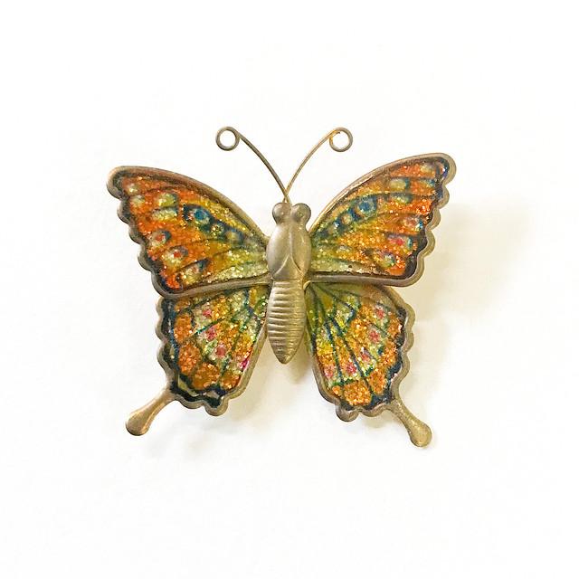【R-166】蝶モチーフブローチ