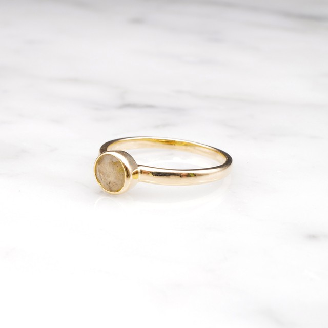 【RESTOCK】S925 MINI LABRADORITE RING GOLD