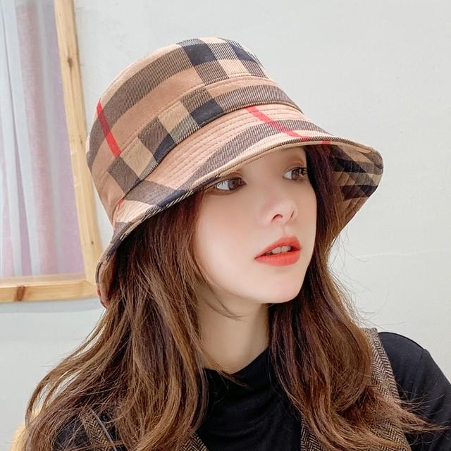 【アクセサリー】カジュアル漁師帽子チェック柄キャップハット帽子26659627