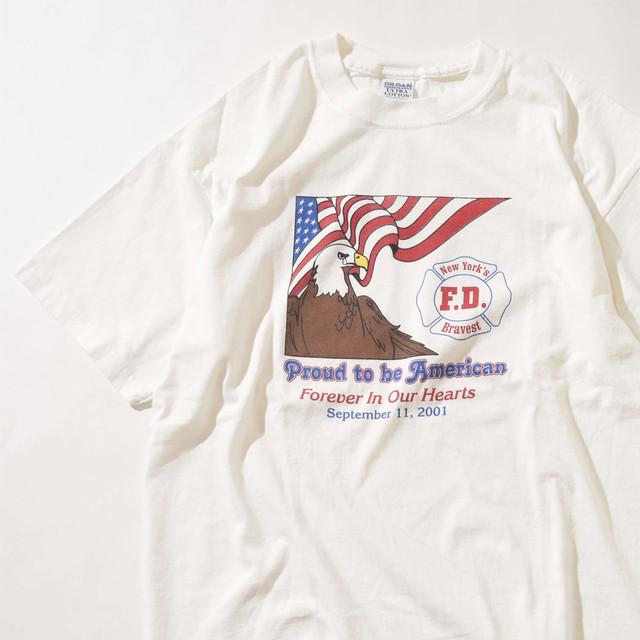 【XLサイズ】Proud To Be American プラウドトゥービーアメリカン TEE 半袖Tシャツ WHT ホワイト XL 400601191009