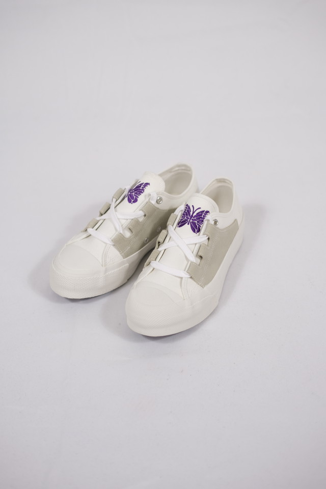 【Needles】asymmetric ghillie sneaker - white