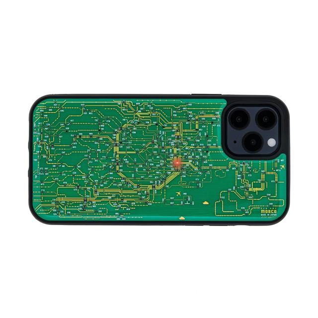 FLASH 東京回路線図 iPhone 12 / 12 Pro ケース 緑【東京回路線図A5クリアファイルをプレゼント】